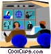 broadcast studio Vector Clip Art picture