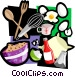baking motif Vector Clipart illustration
