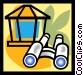 binoculars Vector Clip Art picture