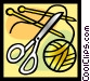 needles Vector Clipart picture