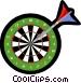 Darts in dartboard Vector Clip Art picture