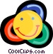 happy face Vector Clipart graphic