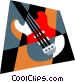 electric guitar Vector Clip Art graphic