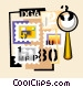 stamp collection Vector Clip Art graphic