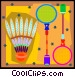 Badminton set Vector Clipart picture