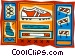 track and field hurdles Vector Clipart image