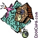 coo coo clock Vector Clip Art graphic