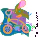 child's bike Vector Clip Art image