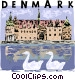 Frederiksborg Castle in Denmark Vector Clip Art image