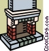 fireplace Vector Clipart image
