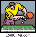 ping pong Vector Clip Art picture