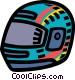 motorcycle helmet Vector Clip Art image