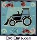 farm tractor Vector Clip Art graphic