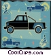 tow truck Vector Clip Art picture