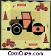 steamroller Vector Clip Art graphic
