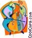 Cellist Vector Clip Art graphic