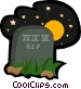 tombstone Vector Clipart graphic