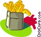 French fries Vector Clipart picture