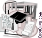 post graduate studies with higher learning Vector Clipart graphic
