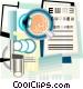 eye examination chart Vector Clipart graphic