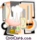 Dental hygiene in a neo-modern montage Vector Clip Art image