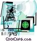 radar installation Vector Clipart image