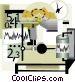 seismology science monitoring Vector Clipart illustration
