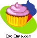 cup cake Vector Clipart illustration