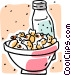 snacks with a drink Vector Clip Art image