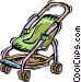 stroller Vector Clip Art image