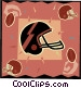 Football helmet Vector Clip Art graphic