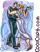 two people dancing Vector Clipart image