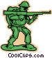 toy soldier Vector Clip Art image