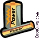 batteries Vector Clip Art graphic