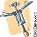 corkscrew Vector Clipart image