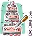 Wedding cake Vector Clip Art graphic