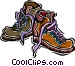 hiking boots Vector Clipart illustration