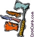 knife with ax Vector Clipart picture