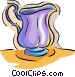 water pitcher Vector Clipart illustration