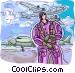 Pilot Vector Clip Art image