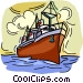 Ocean liner, ship Vector Clip Art graphic