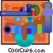 Symbol of a pipe Vector Clip Art graphic