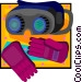 welding goggles and gloves Vector Clipart graphic