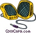 speakers Vector Clip Art image