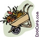 wheel barrel Vector Clip Art image