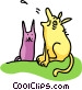 dog & cat Vector Clipart illustration