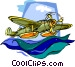 float plane Vector Clipart illustration