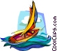Sailboat, ship Vector Clipart picture