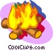camp fire Vector Clip Art picture