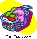 laundry hamper Vector Clipart graphic